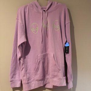 NWT Zumies  purple alien sweatshirt